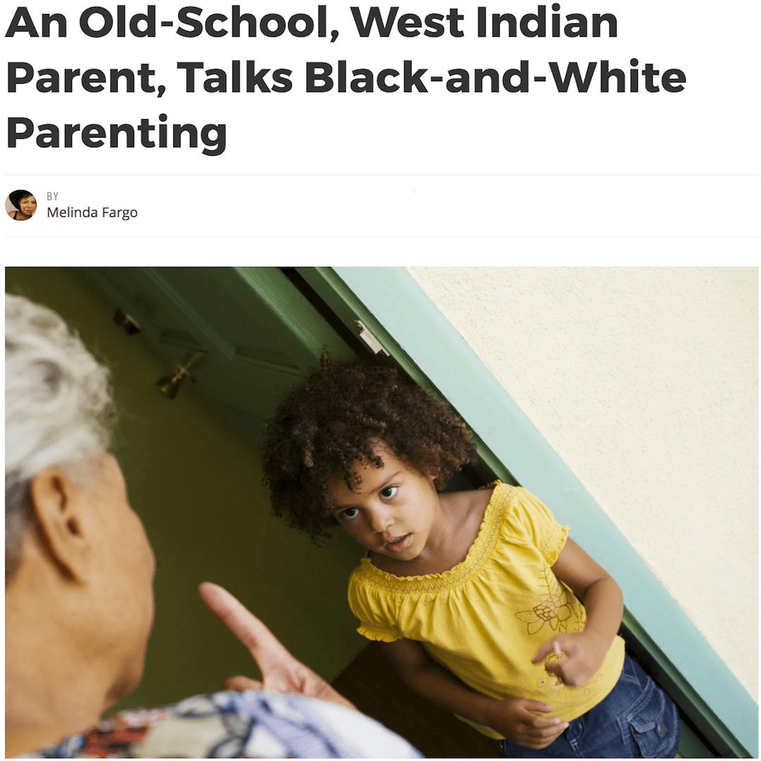 What Mel Did - Old school, West Indian parent, talks black and white parenting