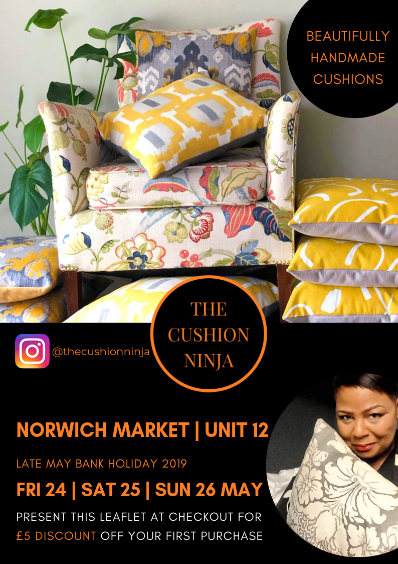 The Cushion Ninja - Late May Bank Holiday 2019