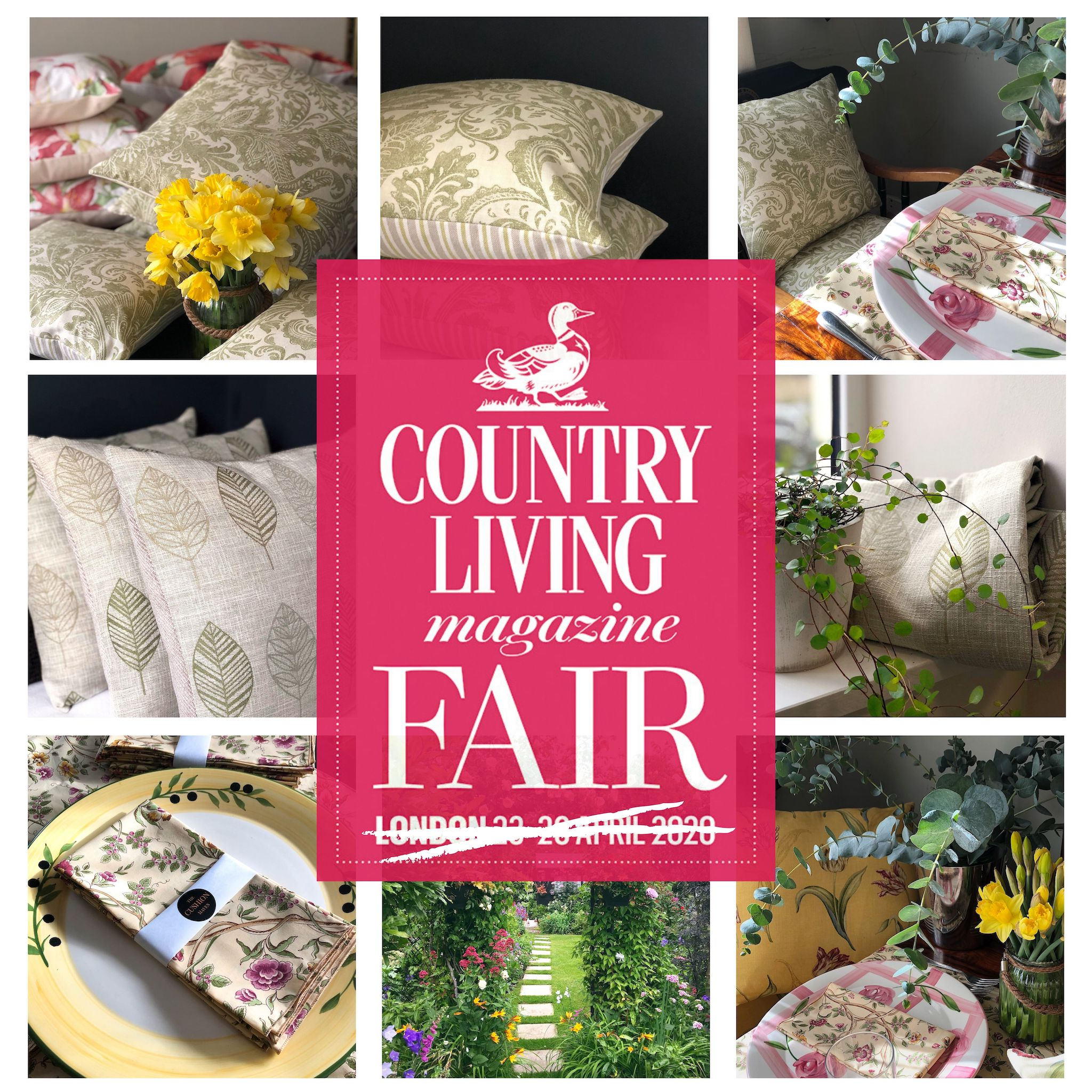 The Cushion Maven at The Country Living Fair 2020